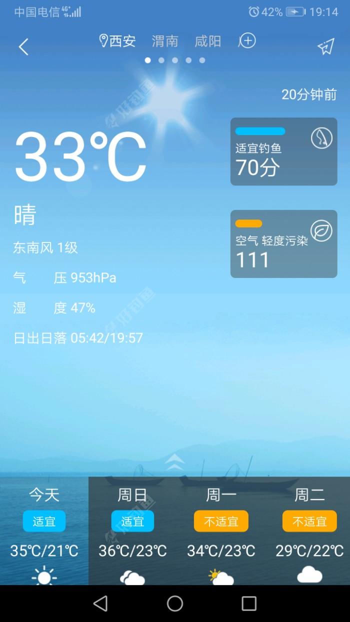 天气还行,气压还是低