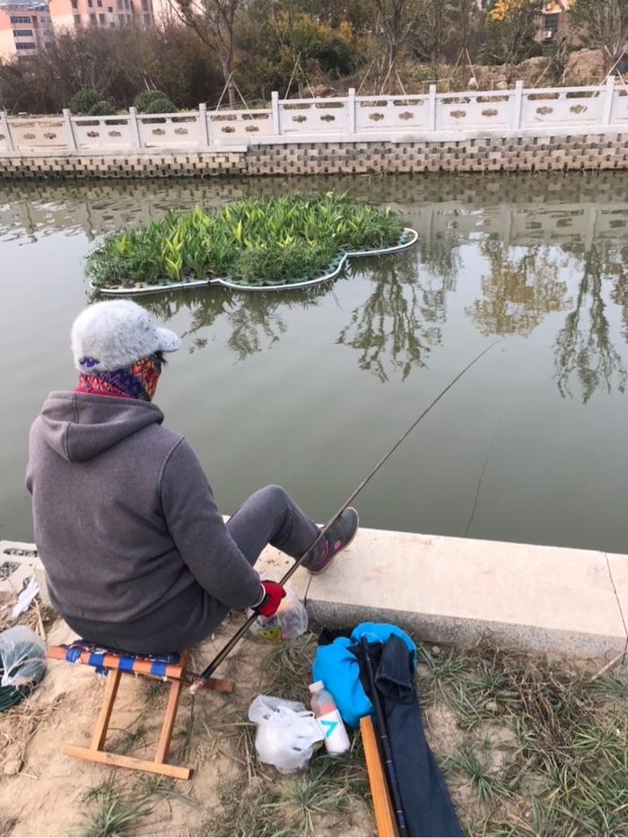 老伴在钓鱼