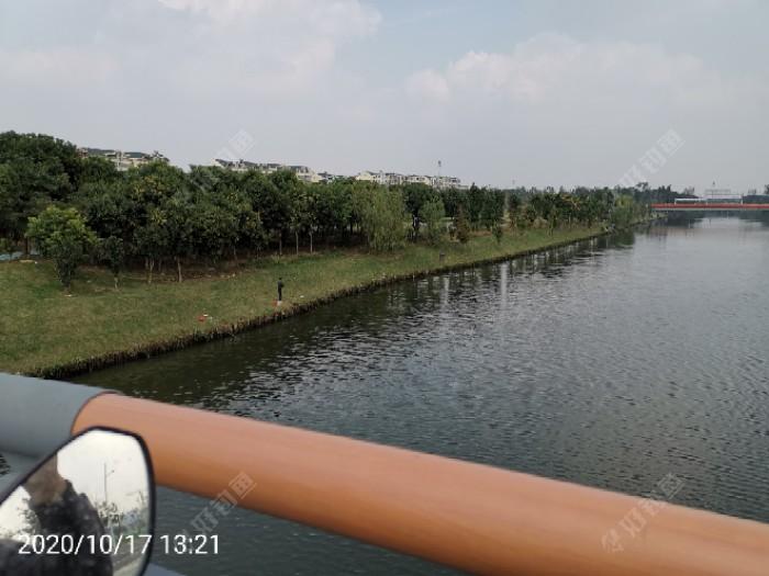 收杆后在桥上向东拍摄的景色。